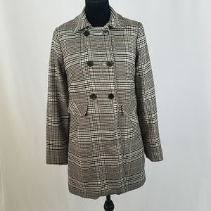 H&M women Houndstooth coat jacket double breasted